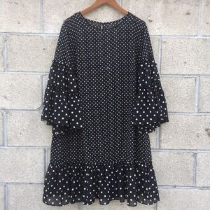 Eliza J polka dot 14 dress